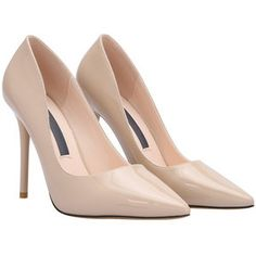 SheIn(sheinside) Apricot Pointed Toe High Stiletto Heel Pumps
