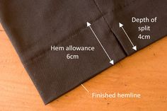 pattern ~ scissors ~ cloth: Add Side Seam Splits To Your Trousers Too!