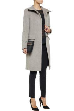 Grey wool coat.