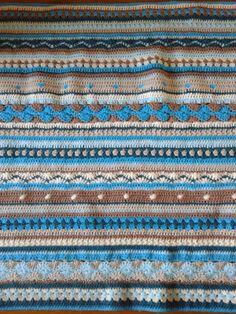 as we go stripey blanket …