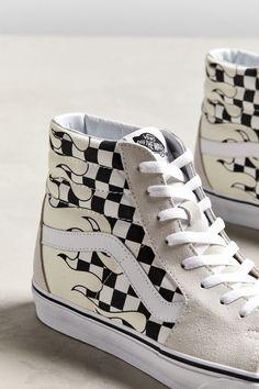 5ebfd492dad449 Vans Sk8-Hi Checkerboard Flame Sneaker Vans Off The Wall