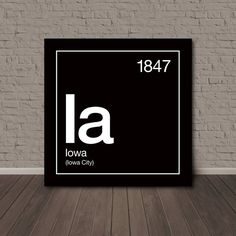 Hey, I found this really awesome Etsy listing at https://www.etsy.com/listing/205489898/iowa-periodic-table-canvas-wall-art