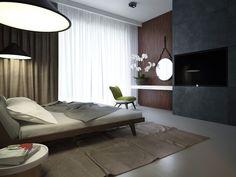 Фото — Urban ascetic in Crimea — Interior design Home Decor Bedroom, Modern Bedroom, Condo Interior, Interior Design, Bed Design, House Design, Small Bedroom Designs, Cozy Room, Dream Rooms