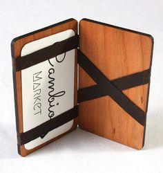 Wood Magic Wallet with Cambio Market Card - Jennifer Rong Designs