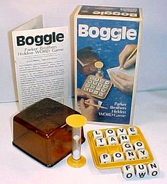 Boggle!  Played this ALL the time growing up, especially with my Grandma   Vintage Boggle Game by Tango Pony on Etsy
