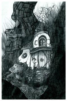 La maison du lutin de la forêt vue par les concept artists - Décembre 2012