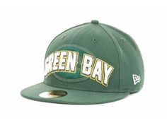 NFL Green Bay Packers 59Fifty Fitted Green Draft Hat 866178d07