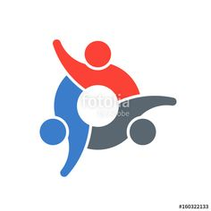 """"""" People Group Teamwork Logo. Vector graphic design illustration"""" Stock image and royalty-free vector files on Fotolia.com - Pic 160322133"""