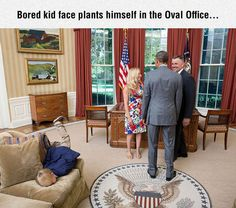 The Oval Office should have Legos or coloring books