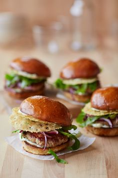 Turkey Burgers with Parmesan Wafers