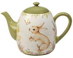 The Certified International Bunny Patch by Susan Winget Round Teapot lets you entertain with lovely springtime style. This warm and playful design features a charming bunny motif, creating a delightful addition to your table. Png Icons, Teapots And Cups, Ceramic Teapots, Coffee Pods, Tea Service, Chocolate Pots, Cute Icons, Earthenware, Tea Time