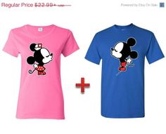 Valentines DayMickey Minnie Disney Couple shirt by AwkwardStyles, $19.99