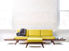 Handmade Solid Wood Walnut Sofa Midcentury Modern by WakeTheTree