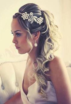 cute wedding hair - if i got a head band - minus the hair hanging around the face