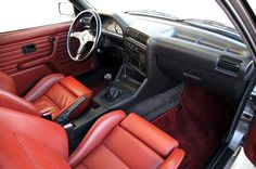 1988 BMW E30 M3 (Salmon Silver) - Interior - Cardinal Red Leather