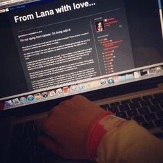#blogging from my  #hospital bed  #cancer  #cancersucks  #nevergiveup  #fighter  #findacure  #strength  #hope  #love  #lana  #blog