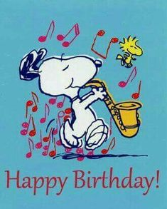 Snoopy plays a jazzy Happy Birthday riff. Birthday Cartoon, Happy Birthday Meme, Happy Birthday Pictures, Happy Birthday Greetings, Birthday Wishes, Snoopy Birthday Images, Birthday Blessings, Card Birthday, Sister Birthday