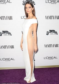 Special guest: Angela Sarafyan was among the guests at the Vanity Fair and L'Oreal Paris Celebrate Young Hollywood bash, held at West Hollywood's Delilah, on Tuesday night