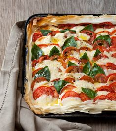 My Hot Caprese Tart on Phyllo Pastry, plus thoughts about older blogpposts. Image by Michael Le Grange, courtesy of Random House Struik.