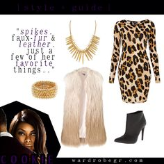 """Spikes, faux fur & leather are just a few of her favorite things..."" 