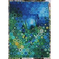One block wonder Wildlife Quilts, Fabric Panel Quilts, One Block Wonder, Millefiori Quilts, Fiber Art Quilts, Kaleidoscope Quilt, Fat Quarter Quilt, Landscape Quilts, Book Quilt