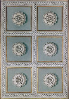painted rosettes for ceilings - Rosa decorazioni - Luxury painted ceilings. Ceiling Painting, Wall Painting Decor, Ceiling Decor, Interior Ceiling Design, Ceiling Light Design, Neoclassical Design, Classic House Design, Fresco, Ornaments Design
