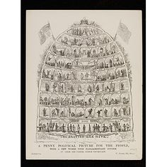 The British Bee Hive, 1840, George Cruikshank; the beehive as a metaphor for society. (Victoria & Albert Museum)