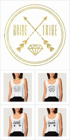 Cute Bride Tribe Custom Fashion Bachelorette Party Apparel, Tees, Tanks, T-Shirts, and more!