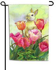 Toland Bunny Garden Flag
