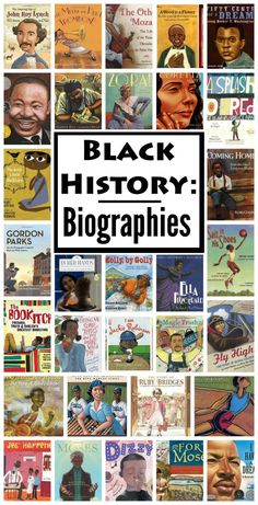 Books to incorporate black history throughout the year. Biographies for kids about African Americans: scientists, musicians, activists, athletes, artists, and more.