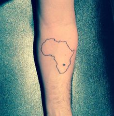 One week later forearm almost healed Zambia my place of birth #Africa #Tattoo #Inked #Zambia