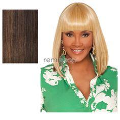 Vivica Fox Weave Cap Collection Tamara - Color FS4/27 - Synthetic (Curling Iron Safe) Half Wig