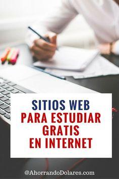 Estudia gratis en Internet. Estos sitios web te permiten aprender algo nuevo. Tips de ahorros.