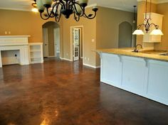 Stained Concrete can look beautiful and you can do it yourself