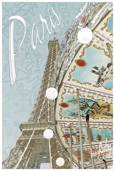 An adorable poster of #Paris