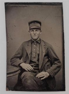 1880s-YOUNG-MAN-IN-UNIFORM-TINTYPE-3-5-8-X-2-1-2