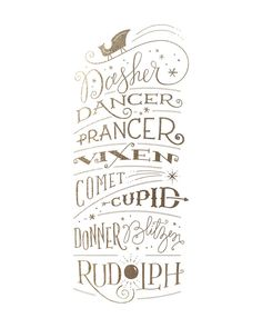 Reindeer Names by Jennifer Wick | Minted