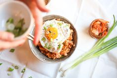15-Minute Kimchi Cauliflower Fried Rice with a Perfect Egg on Top   Abra's Kitchen