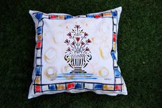 Baroque Pillow Case Decorative Throw Colorful by MixeDesigns