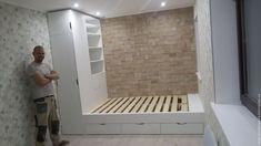 Кровать Подиум (малый эверест) – купить или заказать в интернет-магазине на Ярмарке Мастеров   Кровать с подъемным механизмом. Ящики полного…