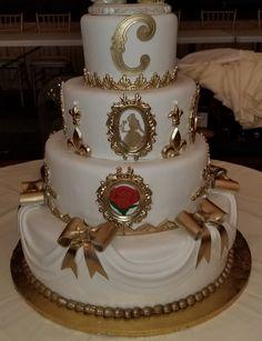 Calumet Bakery Beauty and the Beast Wedding Cake No. 2
