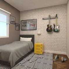 Low Budget Home Decoration Ideas Home Office Bedroom, Bedroom Wall, Bedroom Decor, Small Room Interior, Room Interior Design, Music Bedroom, Teen Room Designs, Teenage Room, Woman Bedroom