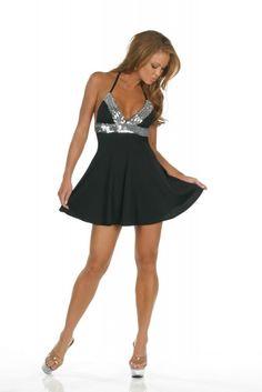 Clubkleid schwarz mit #Pailletten