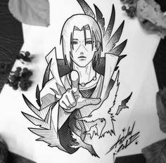 Naruto Sketch Drawing, Naruto Drawings, Naruto Art, Naruto Tattoo, Anime Tattoos, Sketch Tattoo Design, Tattoo Sketches, Art Sketches, Tattoo Designs