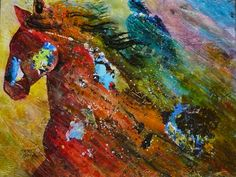"""Storm"" 18x24 acrylic painting by Caren Goodrich"