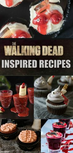 The Walking Dead Inspired Recipes -  20 amazing edibles that would be great at any watch party or Halloween celebration.