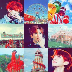 Baekhyun exo amusement park aesthetic