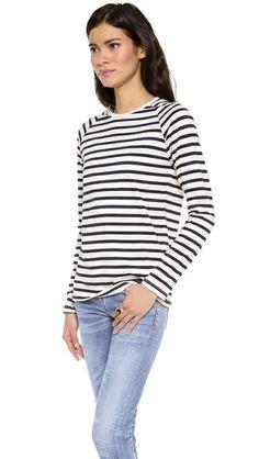 Harvey Faircloth Sailor Stripe Boyfriend Tee $165.00