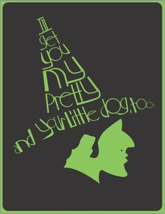 """""""Captions of Oz"""" were created by Alex Johnson (Digital Arts & Design, 2012 grad) in the Typography and Page Layout course. #WizardofOz"""