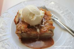 Bread Pudding with Cinnamon Toffee Sauce from www.joyinourhome.com